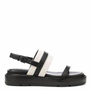 DKNY Flatform Sandal Black White Creeper